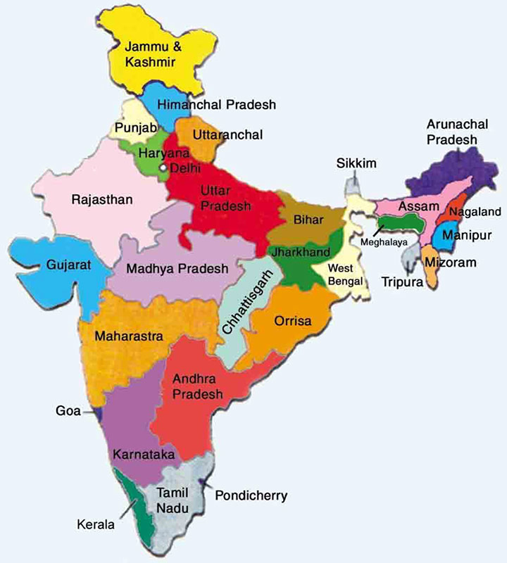 Travel Map of Northeast India