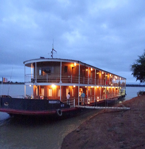 Burma Cruise Chindwin Pandaw at Night