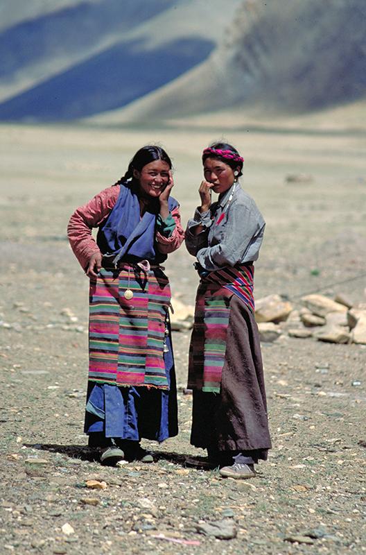 Two Women Dingri Tibet