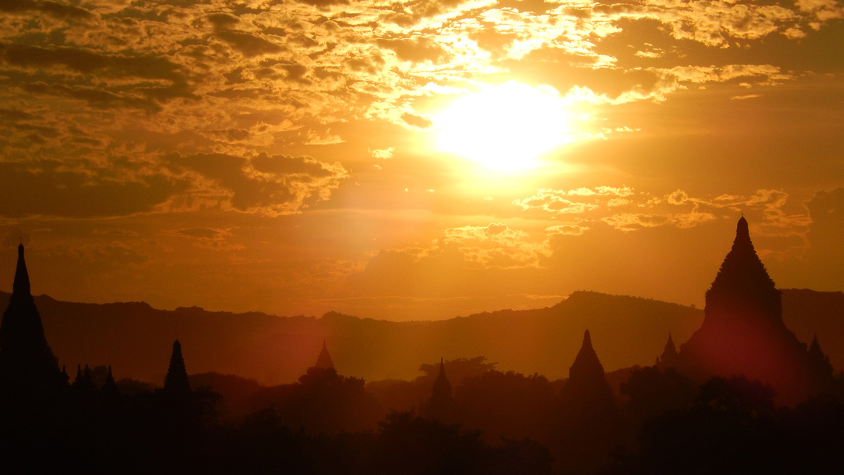 Myanmar Burma Bagan Sunset