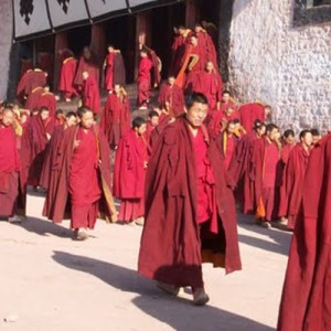 Monks in China and Tibet