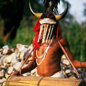 India_Chattisgarh.Bison Maria Drummer