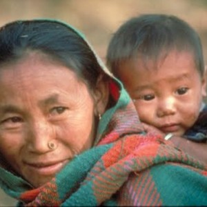 Woman and child from Nepal