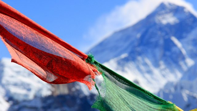 Nepal Everest flags
