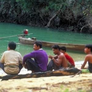 thailand sea canoe fishermen