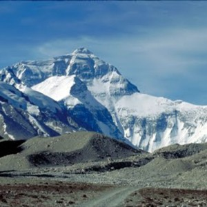 View of Everest from Tibet travel