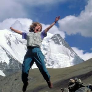 Jumping during Tibet travel