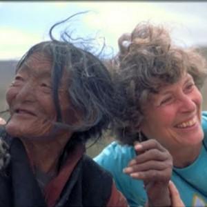 Tibetan Woman with traveler