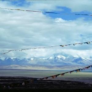 Tibet travel flags