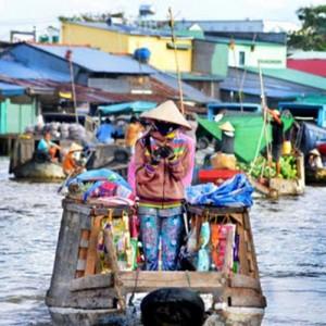 Vietnam mekong market boats