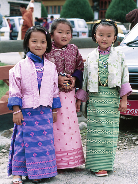 bhutan festivals girls
