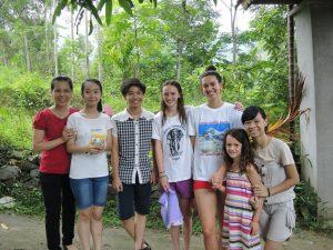 family touring vietnam