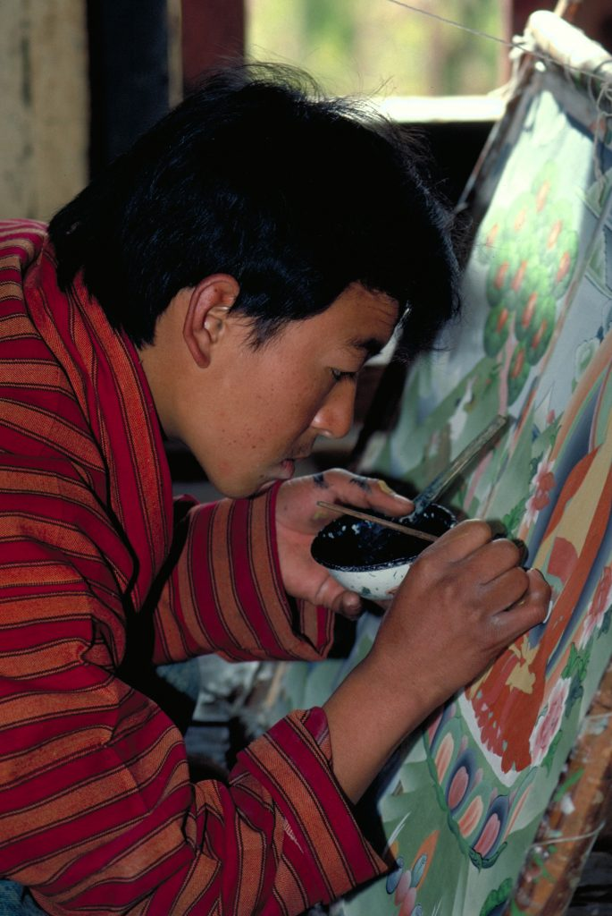 Bhutan Thimphu Traditional Painting School