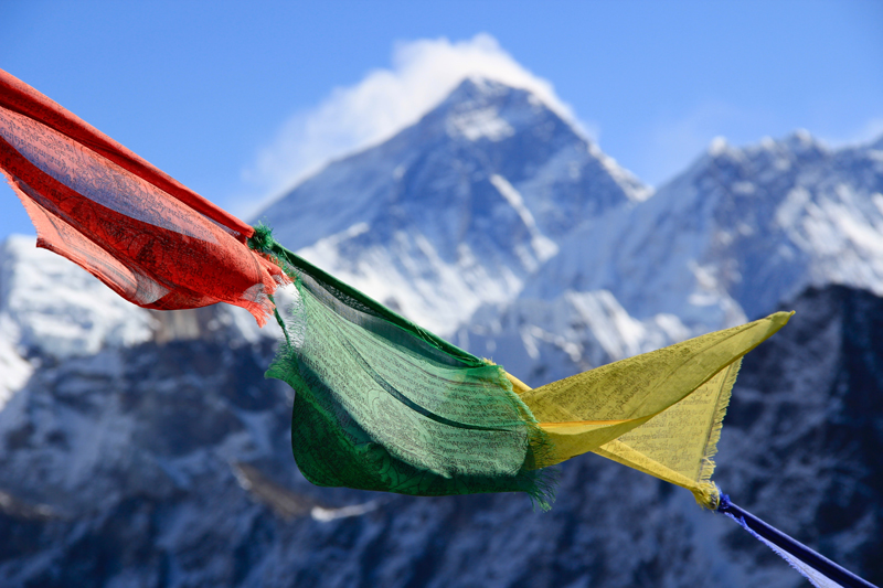 Everest Base Camp flags