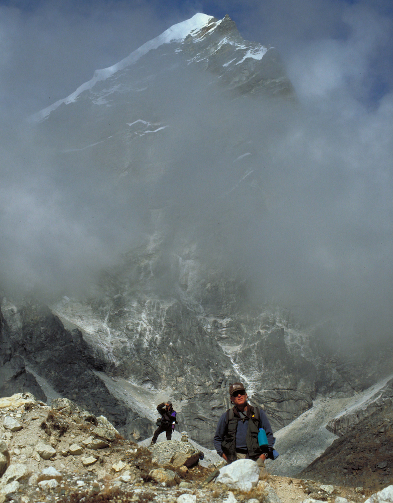 Nepal Everest Trek Trail and Clouds